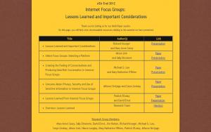 AEA – Online Focus Groups